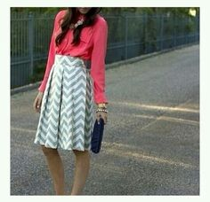 Cute modest outfit. The skirt just needs to be a little longer, but overall it's super cute!