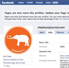 "Best of elephant history: Mar 30, 2009  ""elephantjournal.com now has a Facebook Page. Become a Fan!"""