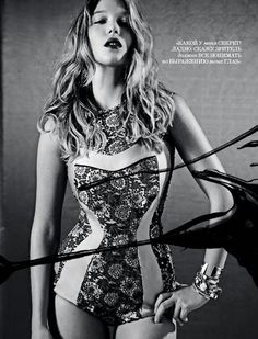 Prada Bodysuit - Léa Seydoux by Eric Guillemain for Interview Russia March 2012