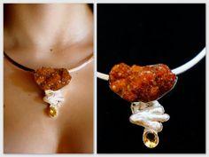 Druzy Citrine Necklace handmade by Ek Art Jewelry Costa Rica #tamarindo #costarica #jewelry #designer #wedding #citrine #shopping