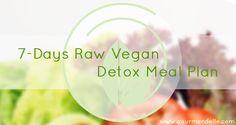 7-Days Raw Vegan Detox Meal Plan