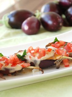 Grilled Baby Eggplants with Date Syrup and Tahini
