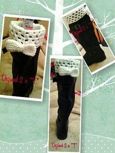 Boot cuffs from http://www.mooglyblog.com/free-crochet-boot-cuff-patterns/