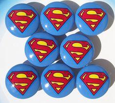 8 BLUE SUPERMAN dresser drawer knobs by PATRINASPLACE on Etsy Superman Room, Superman Baby, Superman Birthday, Superhero Room, Baby Bedroom, Baby Boy Rooms, Kids Bedroom, Bedroom Ideas, Dresser Drawer Knobs