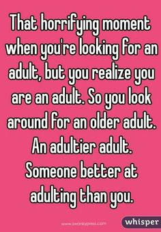 That horrifying moment when you are looking for an adult....