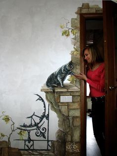 Painted wall mural