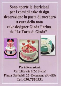 24 marzo corso cake design a desenzano bs per info 3403745199