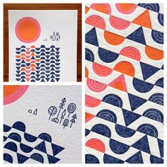Nate Luetkehans for Oakland Illustrated: A letterpress collaboration by The Weekend Press.