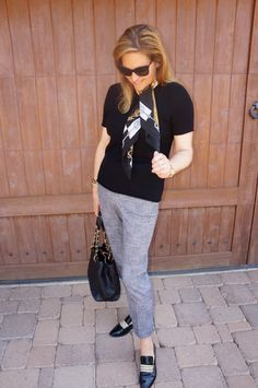 Angela's Lab | How to Pretty Up Your Menswear « Mom Style Lab @nordstrom #theory #chanel #hermes #bettyemullershoes #mensweartrend #fallfashion #style #fashionblogger #momblogger #advancedstyle #over40 Shop the look at www.momstylelab.com