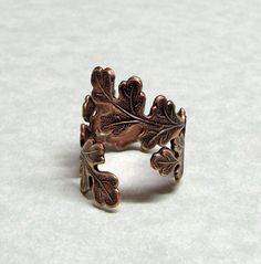 /Catalina/ /jewels/ Forest Oak Leaf Ring - Can I just have one of everything from this Etsy store? Please?