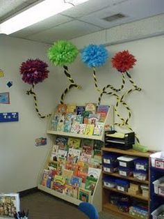 Dr. Seuss Classroom Theme - Truffula Trees!  - - rePinned by #PediaStaff.  Visit http://ht.ly/63sNt for all our pediatric therapy pins