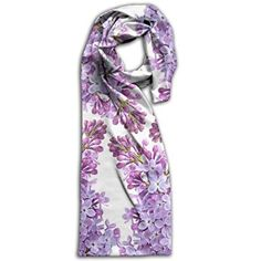 Lilac Flower Oblong Lightweight Women Scarf Colorful For Head Scarf Unisex Scarves Review