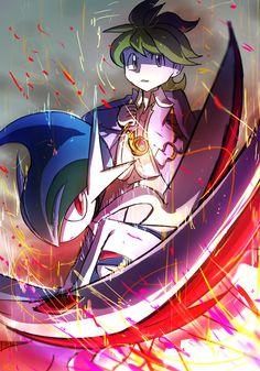 Pokemon: Wally and Mega Gallade by Omiza-Zu
