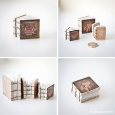 Handmade miniature books byLi kim Goh.  Her etsy can be found here.