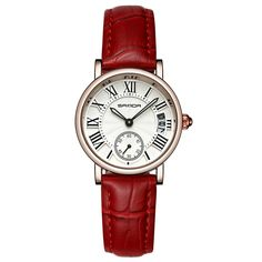 SANDA Trendy Quartz Watches Round Dial Roman Numeral Simple Leather Band Watches for Women is hot-sale, waterproof watches, bracelet watch, and more other cheap women watches are provided on NewChic. Uganda, Bracelet Cuir, Bracelet Watch, Montenegro, Fancy Watches, Women's Watches, Wrist Watches, Watches Online, Waterproof Watch