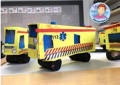 ambulance knutselen met download, kleuteridee