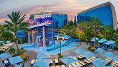 Pools at the Disneyland Hotel Disneyland Hotel, Resorts, Outdoor Blanket, Petra, Places, Outdoor Decor, Pools, Vacation Resorts, Beach Resorts