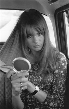 Jean Shrimpton's eyelash-skimming blunt fringe by Vidal Sassoon, a look still ubiquitous in fashion capitals the world over. #60s