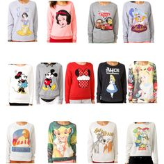 Forever 21 used to carry Disney sweaters (they had ever Disney movie on a sweater literally) you can find them on ebay or polyvore now... want!