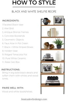 Looking for something a little bit edgy? I was inspired to put together  this look by Studio McGee's Raised Geo Box in black. There is something so  cool and edgy about it but it manages to still look classic and refined.  That's exactly what I was going for on this shelf. This is for a person wh