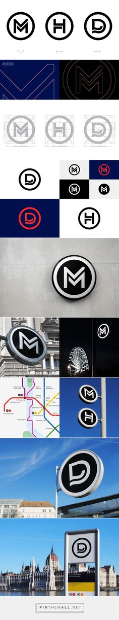 Budapest Public Transport Logos on Behance. - a grouped images picture - Pin Them All 2 Logo, Typography Logo, Logo Branding, Lettering, Logo Word, Font Logo, Corporate Branding, Logo Sketch, Coperate Design