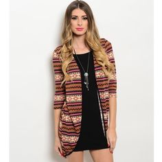 """Brown/Pink Dress Lovely brown dress with pink cardigan look. Fabric Content: 95% POLYESTER 5% SPANDEX Size: Medium  Description: L: 33"""" B: 13"""" W: 12"""" Dresses Mini"""
