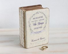 Ring Bearer Box Travel Theme Wedding Box Rustic by MyHouseOfDreams