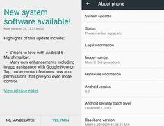 awesome El Moto G (tercera generación) comienza a recibir Android 6.0 Marshmallow
