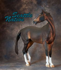 "Sculptor Kitty Cantrell, painter Mel Miller - ""Seattle Native"" model horse"