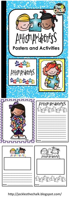 AUTISM AWARENESS ACTIVITIES AND POSTERS -  Light It Up Blue! April is National Autism Awareness Month. These posters and activities are a perfect way to promote Autism Awareness and begin the dialogue with young children.$
