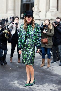 Anna Dello Russo Street style  Fashion Week outfit on Sbaam.com  http://sba.am/q9lvogar6io