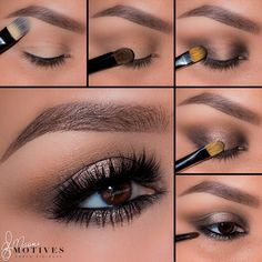 "Check out this look by Ely Marino using it to get a glamorous look: http://bitly.com/MotivesInTheNude  1. Begin by applying ""Cream"" onto the brow bone  2. Taking ""Fawn"" apply to the entire lid and in the crease  3. Using ""Espresso"" apply to both the inner & outer corners of the eyes  4. Taking ""Dazzle"" on a slightly damp flat brush, pat onto the center of the lid  5. Line the water line using ""LBD"" gel liner and smudge out using ""Espresso"" then pat ""Dazzle"" on to the center"