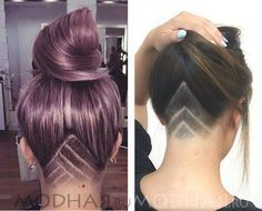 Blonde Contouring - 40 Chic Angled Bob Haircuts - The Trending Hairstyle Angled Bob Haircuts, Modern Haircuts, Layered Haircuts, Undercut Hairstyles Women, Undercut Long Hair, Undercut Hair Designs, Natural Hair Styles, Short Hair Styles, Shaved Hair Designs