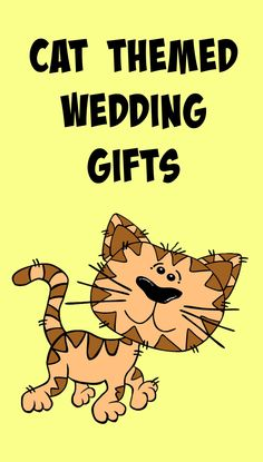 A fun and delightful selection of cat wedding gifts.