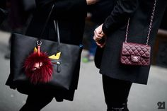 Fendi to the left, Chanel to the right.