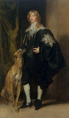 Sir Anthony van Dyck,   James Stewart, Duke of Richmond, and Duke of Lennox   c1637