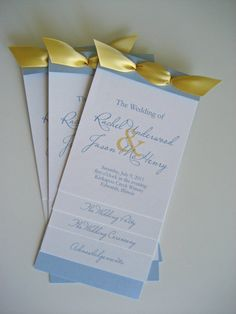 Layered Wedding Program  Custom Monogram Program by designedbyme, $4.00