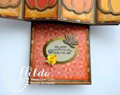 Hilda Designs: Reto Octubre en SCC: Combo Color y Calabazas, Latina Crafter