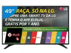 "Smart TV LED 49"" LG Full HD 49LH6000 WebOs - Conversor Digital Wi-Fi 3 HDMI 2…"