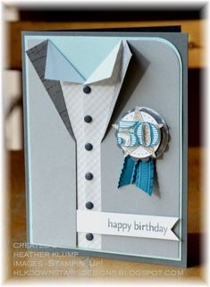 A Masculine 50 by tankgrl - Cards and Paper Crafts at Splitcoaststampers. Also a great idea for a cake!