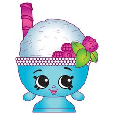 Shopkins - Scoopy One - a Common Shopkin Plastic Canvas Tissue Boxes, Plastic Canvas Patterns, Shopkins Characters, Shopkins And Shoppies, Monster High Custom, Cartoon Wallpaper Iphone, Gifs, Bottle Cap Images, Monster High Dolls