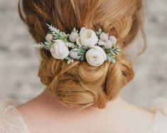 flower crown, floral hair comb, bridal headpiece by KEDRflo Bridal Comb, Bridal Headpieces, Bridal Hair, Headpiece Wedding, Bride Hair Flowers, Pink Flowers, Wedding Hair Clips, Wedding Hair Pieces, Flower Headpiece
