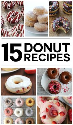 The very best donut recipes ever! These look so delicious.