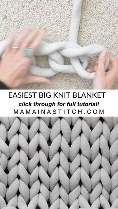 Big Yarn Blanket, Giant Knit Blanket, Chunky Blanket, Wool Blanket, Easy Knit Blanket, Chunky Knit Throw, Blanket Ladder, Knitting Patterns Free, Free Pattern