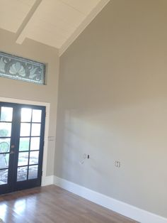 I had all the ceilings in the three rooms painted the same white as all the trimwork - Benjamin Moore's Chantilly Lace. It's one of my favor...