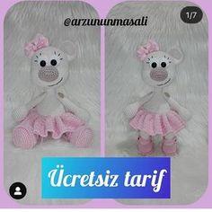 Bu şirin şey için @arzununmasali 'na teşekkürler 💐💐 . . . . .… Christmas Crafts, Crochet Hats, Snoopy, Teddy Bear, Animals, Character, Instagram, Amigurumi, Knitting Hats