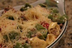 Italian Sausage Tortellini Carbonnara