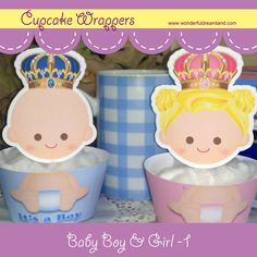 Printable Digital PDF File  Cupcake Wrappers by clipartsuperstore, $4.00