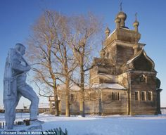 Not really a castle but an aging Russian Orthodox church. Most of those that survive are found in the sparsely populated north-western corner of Russia, where few can appreciate the majesty of the buildings