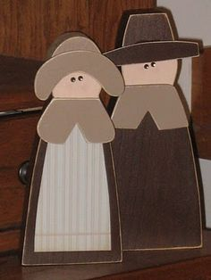 Pilgram Couple...  No instructions on how to make them but they are simple lines.  I think I could come up with something similar.